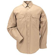 5.11 Tactical Men's Coyote Brown TacLite Pro Long Sleeve Shirt Large 72175120l