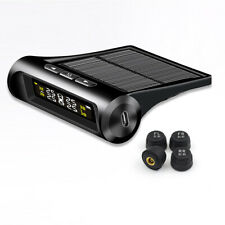 Solar Wireless TPMS Tyre Tire Pressure Monitor System+4 External Sensors