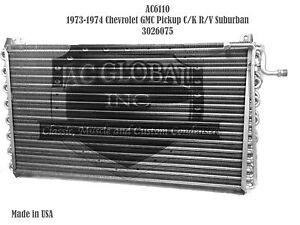 1973 1974 Chevrolet GMC Pickup C K R V Suburban AC CONDENSER OEM# 3026075 AC6110
