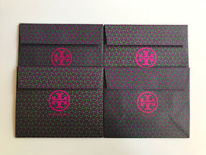 """*New* 4 x Tory Burch Paper Bags with flap enclosure (Approx 8"""" x 6.5"""" x 3.5"""")"""