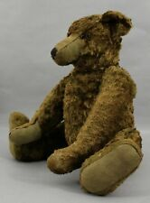 Rare Antique 19in Early 20thC Jointed Short Green Mohair Teddy Bear, Nr