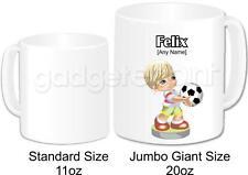 Personalised Football Gift Coffee Tea Novelty Jumbo Giant 20oz Mug (Design 2)