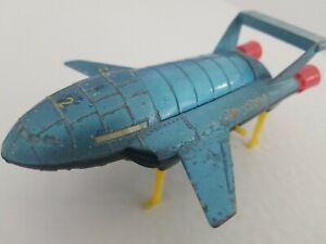 VINTAGE THUNDERBIRD 2 DINKY DIE CAST TOY + TB4 WORKING & COMPLETE 1967-73 G