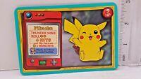 "Pokemon Pikachu 1999 Thunder Wave Card Large 3"" x 4.5"" RARE Nintendo Collectible"