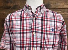 U.S. POLO ASSN. Men's Multi Color Plaid Short Sleeve Casual Button Front Size XL