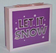 BATH BODY WORKS PINK PURPLE GLITTER LET IT SNOW GIFT BOX SET WRAP ORGANIZER CUTE