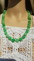 10mm APPLE Green JADE 14k Bead *Any Length* Necklace *Tested Genuine*