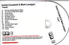 ISOBEL CAMPBELL & MARK LANEGAN Hawk UK 13-trk numbered/watermarked promo test CD