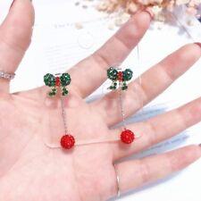 Bowknot Earrings Charm Full Rhinestone Long Beads For Women Fashion Jewelry