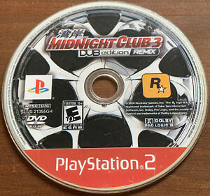 Midnight Club 3 DUB Edition Remix (PlayStation 2 PS2) - DISC ONLY Tested