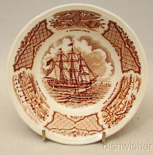 Alfred Meakin England FAIR WINDS BROWN  Fruit Dessert Bowl(s) 5 3/8 x 1 1/2 EXC