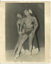 "Black Exotic Dance Team Original 1940's 8"" X10"" Promotional Photograph"