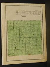 Minnesota Polk County Map Sletten Township 1915  W4#09