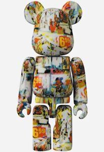 Medicom Bearbrick Artist Series 42 be@rbrick 100% Andy Warhol x Jean Michel S42