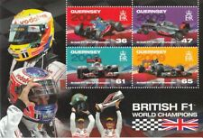 GUERNSEY [GB] 2011 = FORMULA 1 = British F1 CHAMPIONS = SS of 4 stamps MNH-VF+