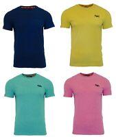 Superdry Mens Orange Label Crew Neck Short Sleeve T Shirt Blue Yellow Pink