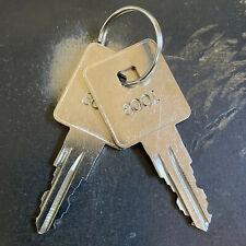 2 Craftsman Toolbox Replacement Keys Cut Key Code 8001 8223 Free Tracking