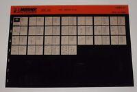 Ersatzteilkatalog Microfich Parts Catalog Mariner Outboards 200 A2 Mai 1989!
