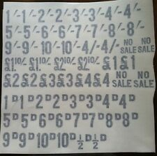 National Cash Register Decals For English Currency