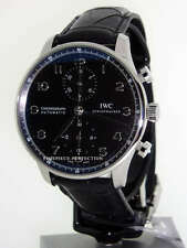 IWC Portuguese Chronograph Stainless IW3714-47 Black Mens Watch
