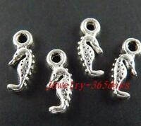 200pcs Tibetan Silver Little Sea horse Pendants 12.5x5mm 792
