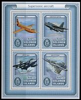 SOLOMON ISLANDS 2017  SUPERSONIC AIRCRAFT  SHEET MINT NEVER HINGED