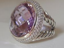 $2350 DAVID YURMAN CERISE LAVENDER AMETHYS DIAMOND ICE RING