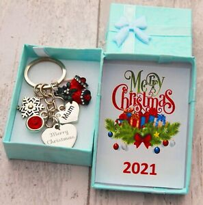 XMAS GIFT Keyring for Mum Daughter Daddy Friend Auntie Nana -Christmas Gift