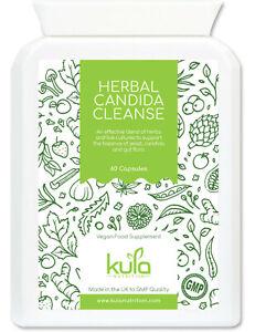 Candida Cleanse Complex - Herbal Detox Thrush Yeast Support - 60 Vegan Capsules