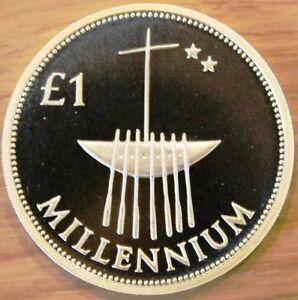 Ireland 1£ Silver Proof 1999 Millennium - Piefort - Piedfort