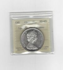 **1965 LB/BLT 5 Type #3** ICCS Graded Canadian Silver Dollar **MS-65 Cameo**