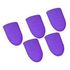 5x Nail Remover Caps Silicone UV Gel Finger Nail Soak Off Clip Clamp Purple