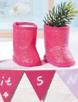 Zapf Creation Baby Born Winter Boots Pair Shoes Shoe Set Glitter Pink
