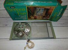 Vintage Marvin Premier Adjustable Expandable Screen Window Fan 239w