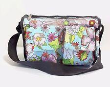 Le SportSac Crossbody Nylon Purse Messenger Bag Floral Print   EXCELLENT