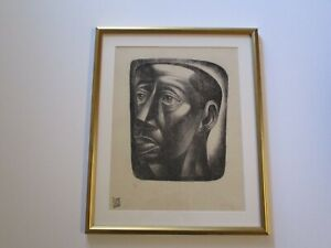 LITHOGRAPH AFTER CHARLES WHITE LIMITED EDITION PRINT PORTRAIT BLACK AMERICANA
