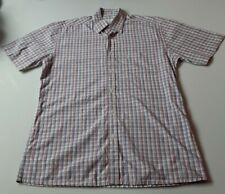 Mens YSL Yves Saint Laurent Checkered Button Up Shirt Size Medium