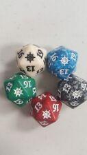 Ixalan Spindown Dice Complete Set - All 5 Color Dice - D20  MTG