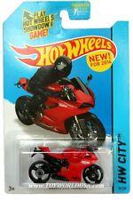 2014 Hot Wheels #36 HW City  Speed Team Ducati 1199 Panigale red