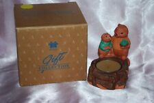 Avon Gift Collection Fireside Friends Candle Holder Spice Votive Disc. Nib