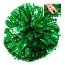 Handheld Pom Poms Cheerleader Cheerleading Dance Party Football Victory Come on Green