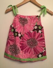 HANNA ANDERSSON Girls Size 80 18-24 Mo Pink Floral Summer Pillow Case Dress