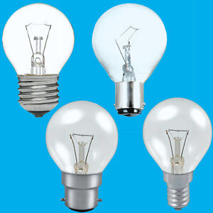 6x Clear Golf Round Dimmable Standard Light Bulb 25W 40W 60W BC ES SBC SES Lamps