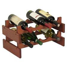 Wooden Mallet 8-Bottle Dakota Wine Rack  Mahogany NEW