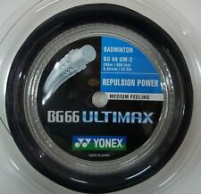 YONEX BG66 ULTIMAX 200M COIL BADMINTON STRING BLACK COLOUR