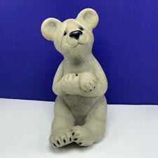 "Quarry Critters Polar Bear statue figurine sculpture second nature Bambi 8"" Big"