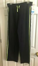 SB ACTIVE Black Active Pant with White/Purple Stripe  NEW w/Tag Size L