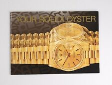 Rolex Your Rolex Oyster Booklet 1998 in English    Bargain No Reserve