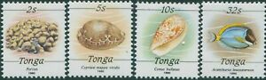 Tonga 1988 SG1000a-1008a 1990 Sponge Shells Fish set MNH