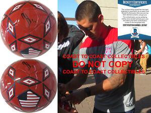Clint Dempsey Sounders autographed USA soccer ball exact proof Beckett COA.